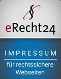 Impressum nach DSGVO, generiert von eRecht24